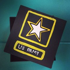 Army Letter Box on Etsy, $10.00...could probably make a more personal and cuter one yourself but I like the idea. Definitely will do when my hubster leaves for basic/AIT!