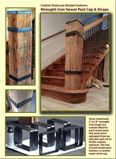 New rustic stairs ideas newel posts 29 Ideas Loft Railing, Iron Stair Railing, Stair Posts, Newel Posts, Front Porch Stairs, Newel Post Caps, Rustic Stairs, Balustrades, House Stairs