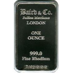Baird Mint 1 Ounce Rhodium Bar