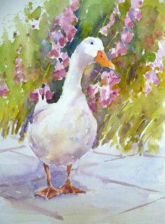 Gertrude. Watercolour. Joanne Boon Thomas Image 1   Art Tutor