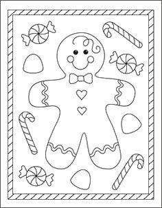adornos galleta jengibre free coloring - Free Coloring Pictures