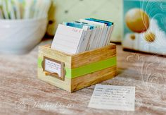 Rustic Wooden Library Style Card Box for Daily by JavaJaneDesigns
