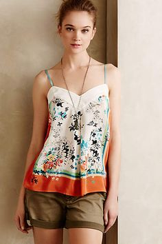 Santorini Silk Cami - anthropologie.eu