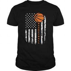 Awesome Tee Basketball  American Basketball Flag  LAST CHANCE Shirts & Tees