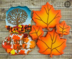 Custom Fall Sugar Cookies (Set of Six) by Sweet17Cookies on Etsy