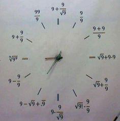 Nerdy Math Clock