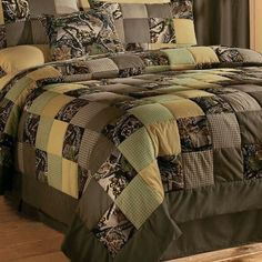 realtree quilt patterns | Camo Remodel for our bedroom - Bed spread