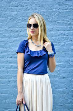 Lilly Pulitzer Ruffle Top + Midi Skirt