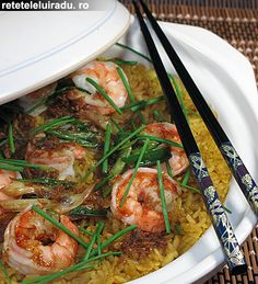 Curried shrimps rice