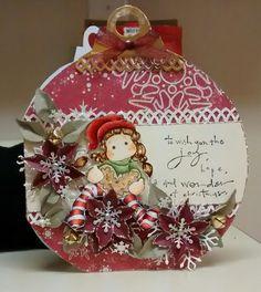 Magnolia Christmas Ornament Card