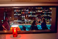 Wednesday, November 2015 After finishing up at Himitsu Lounge in Buckhead, I headed over to Decatur to see the newly opened S., tiki torches light th… Fried Coconut Shrimp, Tiki Lights, Bar Interior Design, How To Make Drinks, Tiki Torches, Torch Light, Restaurant Design, Fun Drinks, Bartender