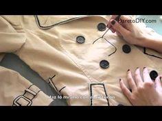 DIY Tutorial: Kill Bill Inspired trench coat TRANSFORMA TU GABARDINA PINTANDOLA