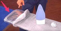 Quando stirate provate a mettere la carta stagnola sotto l'asse da stiro e scoprite cosa succede [Video]