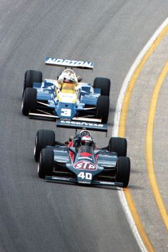 """legends of racing: """"Mario Andretti leads Bobby Unser at the Indianapolis 500 in They would eventually trade places, """" Indy Car Racing, Sports Car Racing, Indy Cars, Rally Car, Race Cars, Mlb Stadiums, Indianapolis Motor Speedway, Mario Andretti, Harness Racing"""