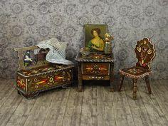 RESERVED S_y Antique German Bauernmalerei Bavarian Furniture