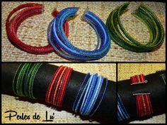 Des bracelets colorés à enfiler simplement !  Perles de rocailles 9/0, 10/0 et 11/0 sur du fil à mémoire de forme.  (https://www.facebook.com/Les-Perles-de-Lu-669628389800525/timeline/)