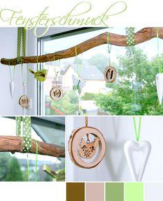 decoration, window, branch, winter, spring, sommer, autumn, DIY