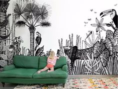 Papel pintado con motivos THE WILD by Bien fait