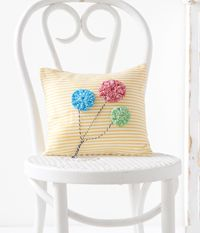 Party Pillow - A sweet #pillow from Love of #Crochet magazine