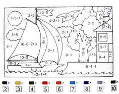 Math Practice Worksheets, Kindergarten Math Worksheets, Math Activities, Go Math, Math For Kids, Preschool Writing, Teaching Math, Kindergarten Colors, Math Practices