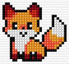 Free cross-stitch design & 28 x 26 stitches 6 colors Cross Stitch Bookmarks, Mini Cross Stitch, Simple Cross Stitch, Cross Stitch Animals, Counted Cross Stitch Patterns, Cross Stitch Designs, Cross Stitch Embroidery, Cross Stitching, Embroidery Patterns