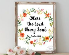 Bless the Lord Oh My Soul Print by Makewells on Etsy