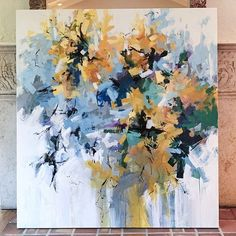 Sunflowers by the North Gate 60x55 #abstract #abstractart #abstractpainting #painting #art #artist #flowers #landscapepainting #color #interiordesign #carlosramirez