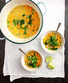 Curried Sweet Potato Soup / loveandlemons.com