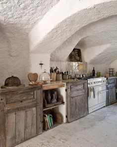 Rural shabby chic, in Provence, France ~ owned by an English antiques dealer, Josephine Ryan.  A restored abandoned village house filled with beautiful details from her shop.