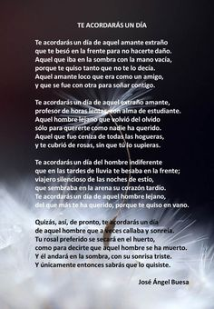 Te acordarás algún día - José Ángel Buesa