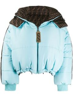 Fendi FF logo reversible puffer jacket - Blue Runway Fashion, Fashion Outfits, Womens Fashion, Fashion Fashion, Fashion Trends, Ropa Louis Vuitton, Aesthetic Clothes, My Outfit, Fendi
