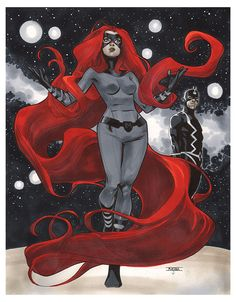 mahmudasrar:  Medusa Another commission for my signing in Aix En Provence in France. Threw a Black Bolt in there too.