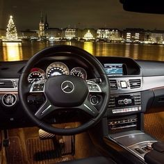 We struck gold with our view of the Hamburg skyline.  #MBPhotoCredit @marioroman_pictures  #Mercedes #Benz #EClass #Instacar #carsofinstagram #germancars #luxury