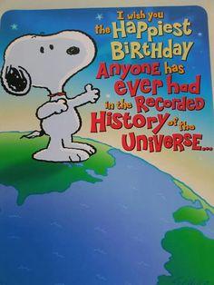 Snoopy birthday wishes!