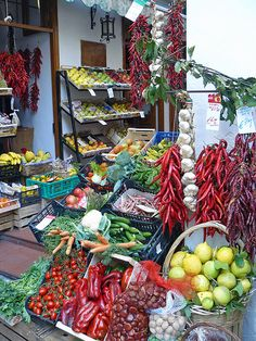 Gorgeous fresh produce at the market in Amalfi