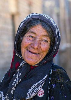 Always something to smile about. Kurdish Woman, Palangan, Iran