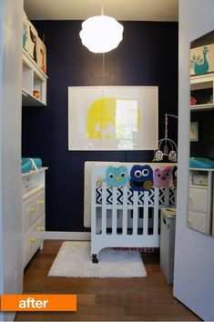 Some parents worry that their baby's closet is too small, but what if all you have for a nursery IS a closet