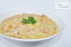 Katrina & Amie from The Block – Chicken and Corn Chowder : The Organised Housewife : Ideas for organising and Cleaning your home Chicken Corn Chowder, Chicken Gnocchi Soup, Corn Soup, Soup Recipes, Chicken Recipes, Dinner Recipes, Organised Housewife, Family Meals, Family Recipes
