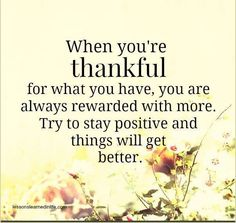 Always b thankful for another day!