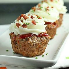 """""""cupcake"""" Meatloaf quick and easy. Not gluten free, but can be made that way super easy!"""