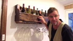 How To Build A Rustic Wine Rack From Reclaimed Pallet Wood