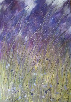 Dreaming of Lavender, oil on canvas Crashing Waves, Lavender Fields, Colorful Paintings, Simple Living, Painting & Drawing, Oil On Canvas, Amethyst, French, Fine Art
