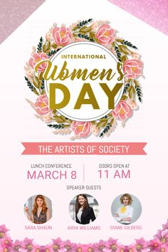 Copy of Women's Day Conference Poster Template Graphic Design Flyer, Event Poster Design, Brochure Design, Flyer Design, Design Posters, Corporate Design, Design Design, Powerpoint Poster Template, Conference Poster Template