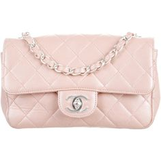 Pre-owned Chanel Mini Rectangular Classic Flap Bag ($1,545) ❤ liked on Polyvore featuring bags, handbags, shoulder bags, chanel, pink, shoulder handbags, pink handbags, light pink handbags, mini purse and mini handbags