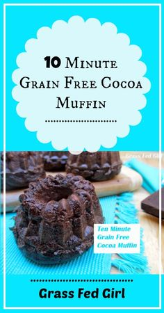 Easy 10 Minute Chocolate Muffin (grain-free, gluten-free, dairy free) - Try my 10 minute easy grain free muffins for breakfast. I can bet you will love them