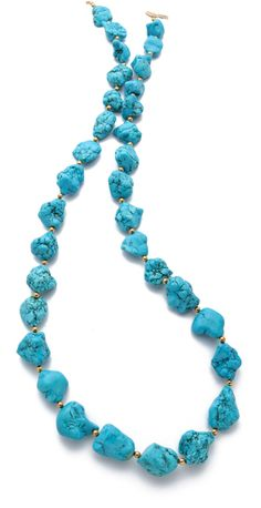 Kenneth Jay Lane Nugget Necklace