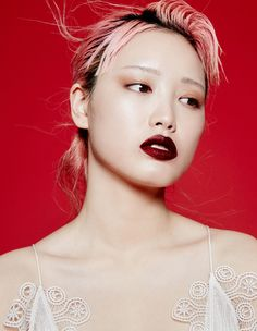 Fernanda Ly Talks About her Pink Hair and Modeling-Wmag