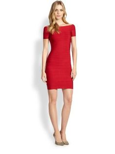 Herve Leger - Carmen Boatneck Dress - Saks.com