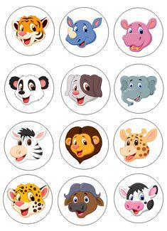 Printable Fall Quiet Book - Activity Book for Pre-K and K Jungle Cartoon, Cute Cartoon Animals, Zoo Preschool, Best Friend Birthday Cards, Safari Theme Birthday, Baby Farm Animals, Baby Club, Animal Crafts For Kids, Spider Crafts