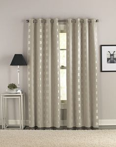 Cosmic Modern Grommet Curtain Panel   Iu0027m Looking For Curtains For My  Living Room